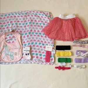 15 pc Little girl accessories bundle